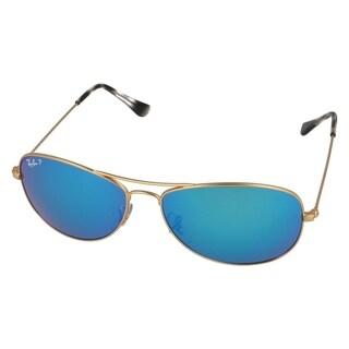 Ray-Ban Chromance RB3562 112/A1 Men's Gold Frame Polarized Blue Mirror 59mm Lens Sunglasses