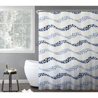 VCNY Home Dot Wave PEVA Shower Curtain 14-piece Bath Set