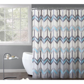 VCNY Home Chevron Printed Reyna PEVA Shower Curtain 14-piece Bath Set - 70 x 70