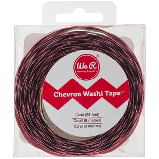 """We R Chevron Washi Tape .875""""X26'-Red Coral"""