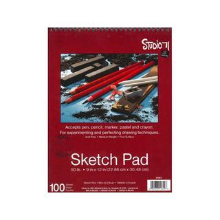 Darice Studio 71 Sketch Pad Spiral 9x12 50lb 100pc