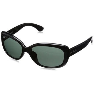 Ray-Ban Jackie Ohh RB4101F 601/71 Women's Black Frame Green Classic 58mm Lens Sunglasses