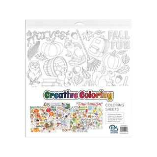 Creative Coloring Paper 12x12 Ast Seasons 8pc