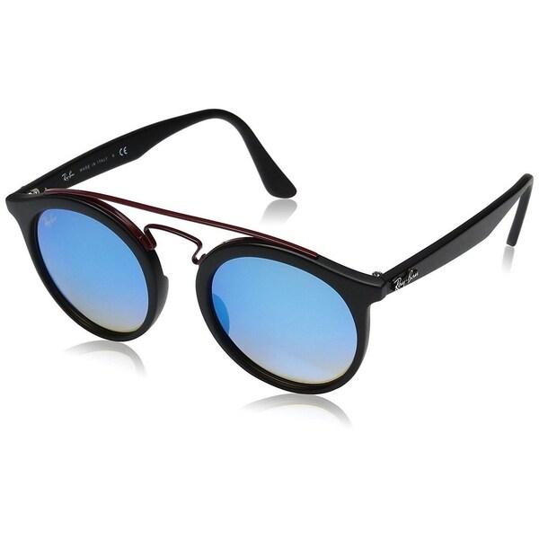 5414daaed1 Ray-Ban Gatsby I RB4256 Unisex Black Frame Blue Gradient Flash Lens  Sunglasses