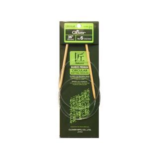"Clover Bamboo Circular Knitting Needle 36"" 6"