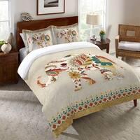 Laural Home Paisley Elephant Duvet Standard Pillow Sham