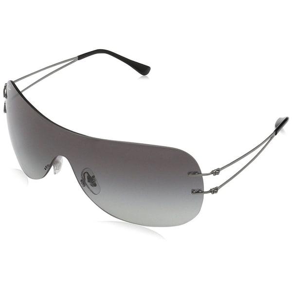 f80abfa395f Ray-Ban RB8057 Unisex Rimless Grey Gradient Single Lens Sunglasses