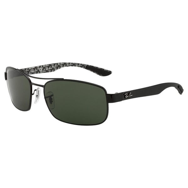 1224c91dfff Shop Ray-Ban RB8316 Unisex Black Frame Polarized Green Lens Sunglasses -  Free Shipping Today - Overstock.com - 15287985