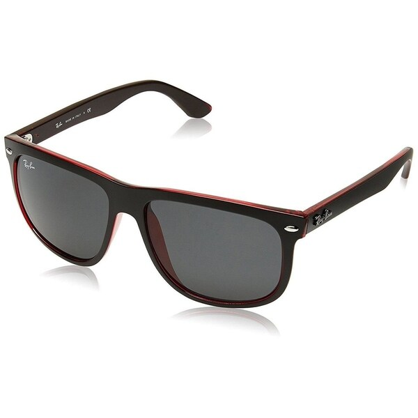 25619d11477ed ... cheap ray ban rb4147 617187 menx27s black red frame grey classic 99527  be24a