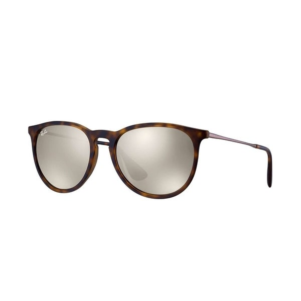 cb66a070f0630 Shop Ray-Ban Erika RB4171 Women s Tortoise Frame Gold Mirror Lens  Sunglasses - Free Shipping Today - Overstock.com - 15288022