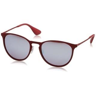 Ray-Ban Erika Metal RB3539 9023B5 Women's Bordeaux Frame Pink/Silver Mirror Lens Sunglasses