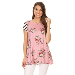 Women's Floral and Striped Sleeve Tunic (3 options available)