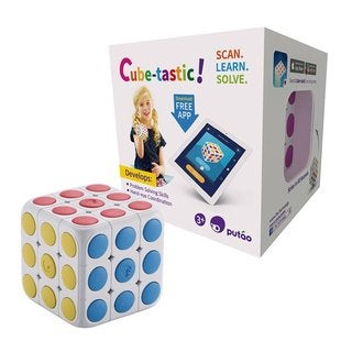 Cube-Tastic. 3x3 Puzzle Cube with Free IOS/Android App. Brain Teaser Toy for Kids
