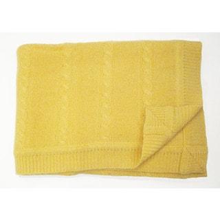 Portolano Yellow Cashmere Baby Blanket
