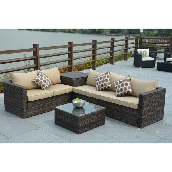 Strange Shop Jasmine 4 Piece Outdoor Wicker Sectional Sofa With Beatyapartments Chair Design Images Beatyapartmentscom