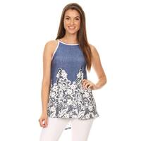 Women's Sleeveless Floral Lace Top