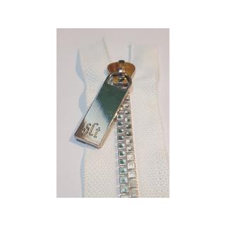 "Sisters Common Thread Zipper 16"" Wht Tape Nickel"