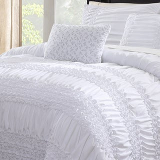 Melinda 5-piece White Comforter Set