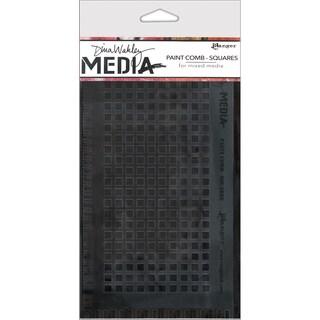 "Dina Wakley Media Large Paint Combs 8.5""X4.75""-Squares"
