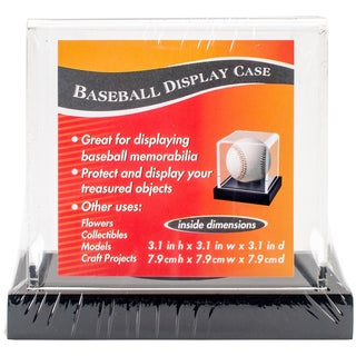 "Baseball Acrylic Display Case 3.65""x3.65""x3.5""-Black Base"
