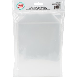"Avery Elle Stamp & Die Storage Pockets 50/Pkg-Large 5.5""X7.25"""