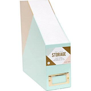 Desktop Paper Storage-Blue & Gold