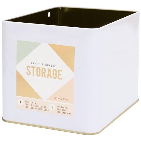 Wire System Metal Storage Bin-Large Gold