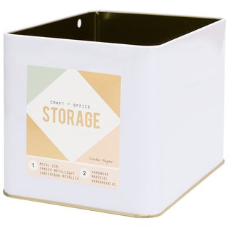 Wire System Metal Storage Bin-Large Gold