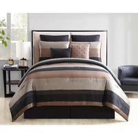 VCNY Home Maxwell 8-piece Black/Gold Comforter Set