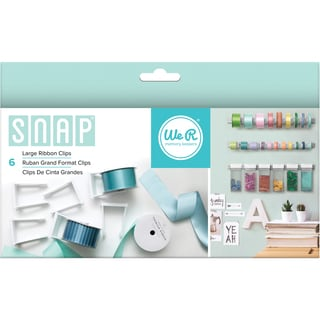 Snap Storage Ribbon Clips 6/Pkg-Large