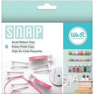 Snap Storage Ribbon Clips 6/Pkg-Small
