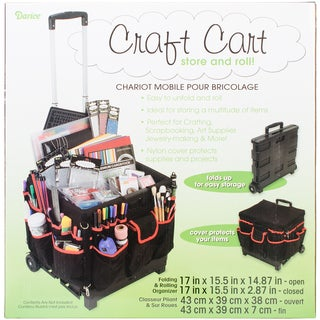 Rolling Craft Cart-Black