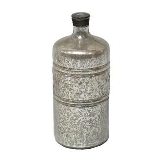 Gold Eagle Silver Glass Decorative Bottle/ Vase
