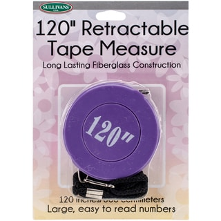 "Retractable Tape Measure 120""-Purple"