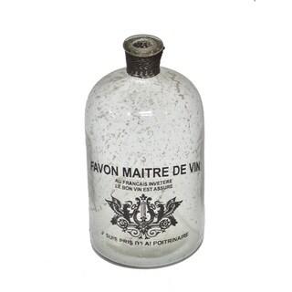 Gold Eagle Off-white Glass Decorative Bottle Vase