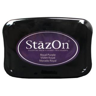 StazOn Solvent Ink Pad Large Royal Purple