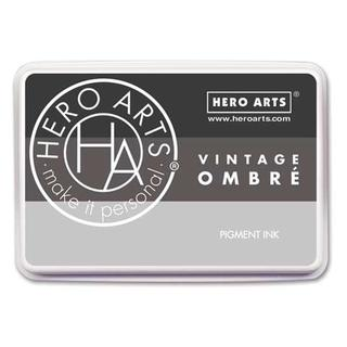 Hero Arts Ink Pad Ombre Vintage Metallic Steel