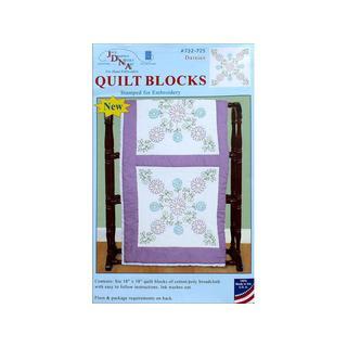 "Jack Dempsey Quilt Blocks 18"" Daisies 6pc"