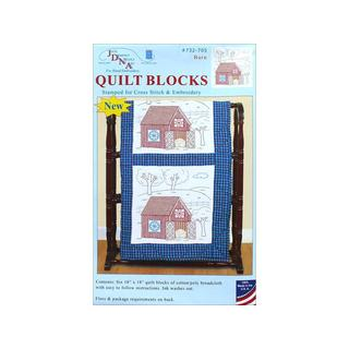 "Jack Dempsey Quilt Blocks 18"" Barn 6pc"