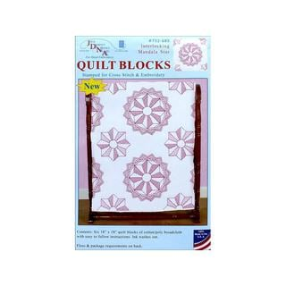 "Jack Dempsey Quilt Blocks 18"" Mandala Star 6pc"