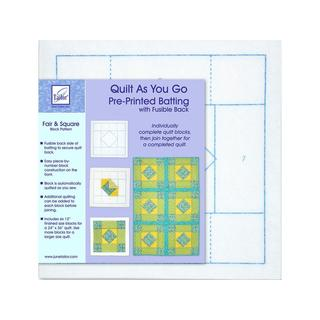 June Tailor Batting Quilt As/Go Poly Fair &Square