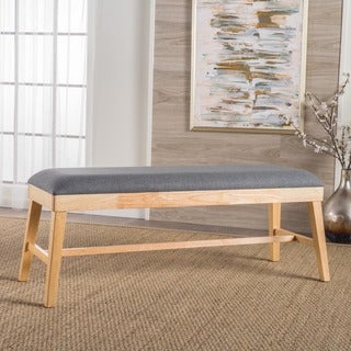 Tinsley Fabric Ottoman Bench by Christopher Knight Home