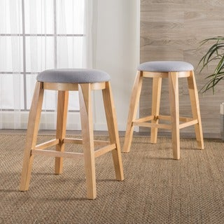 Maren Backless Fabric Barstool (Set of 2) by Christopher Knight Home