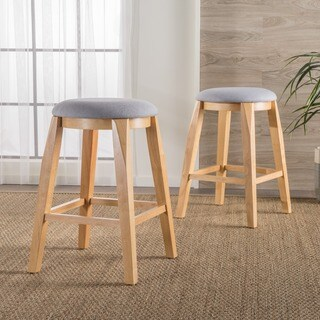 Maren 26-inch Backless Fabric Barstool (Set of 2) by Christopher Knight Home
