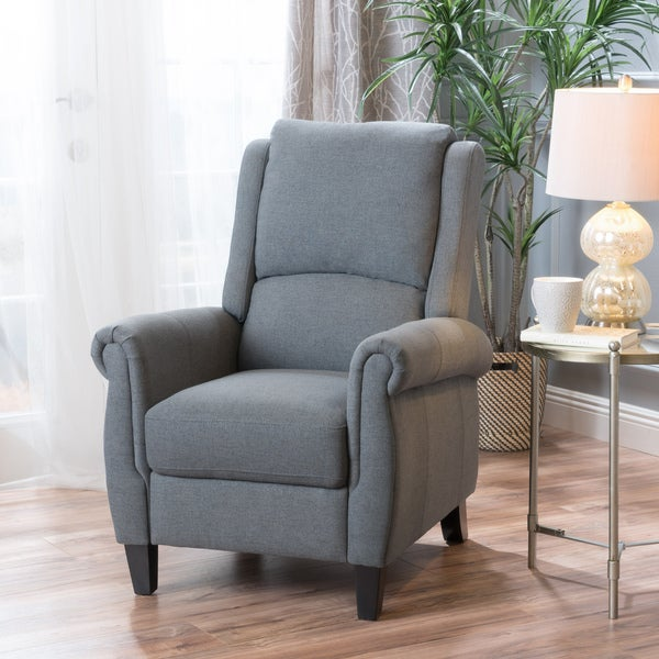 Haddan Fabric Recliner Club Chair By Christopher Knight Home