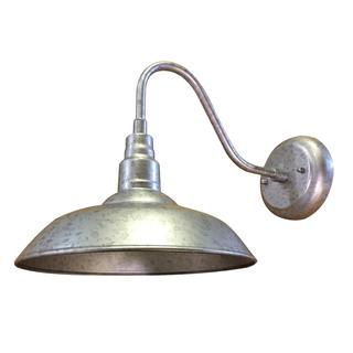 Y-Decor Lora 1 Light Outdoor Wall Light in Galvanized Metal