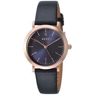 DKNY Women's NY2617 'Minetta' Blue Leather Watch