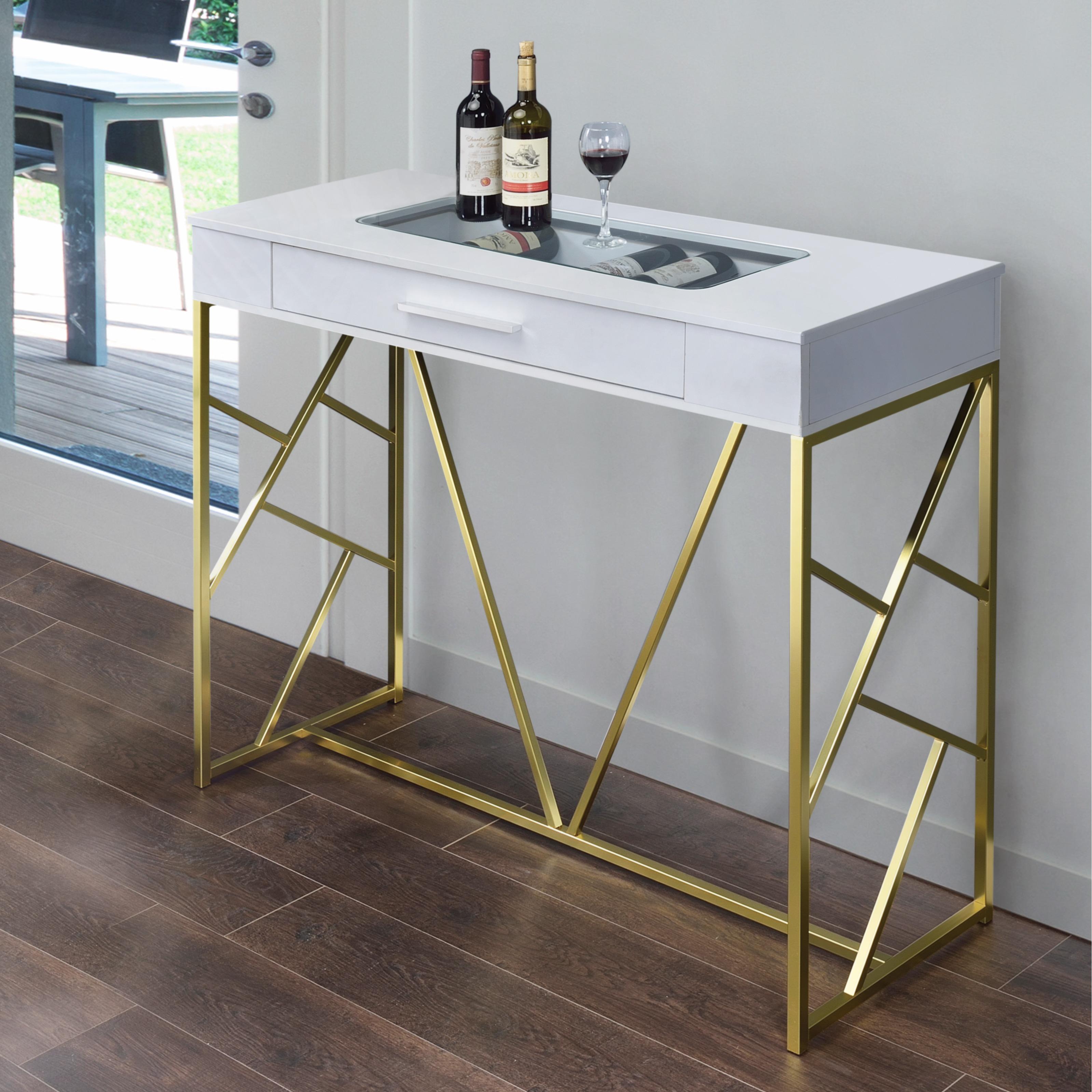 Furniture of America Kisten Contemporary 1-drawer Bar Hei...