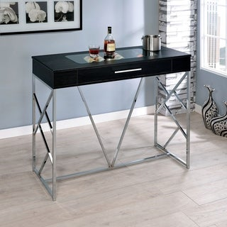 Furniture of America Kisten Contemporary 1-drawer Bar Height Wine Table