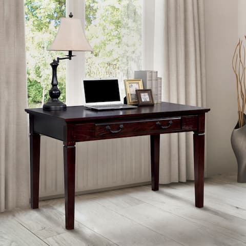 Furniture of America Devon Traditional Dark Walnut Writing Desk